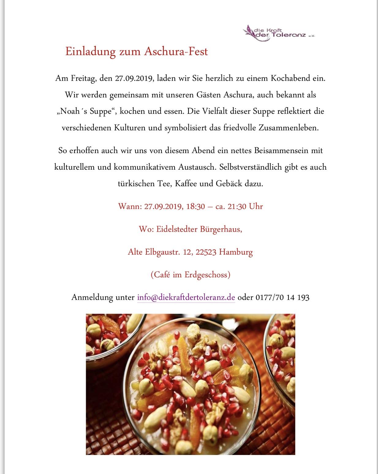Aschura Fest in Eidelstedter Bürgerhaus